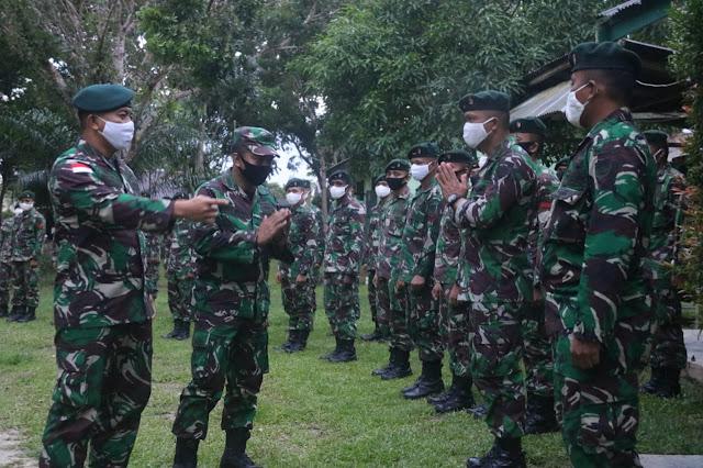 Satgas Raider 300 Menerima Kunjungan Kerja Dari Kodam III Siliwangi