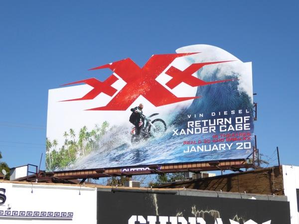 XXX Return of Xander Cage movie billboard