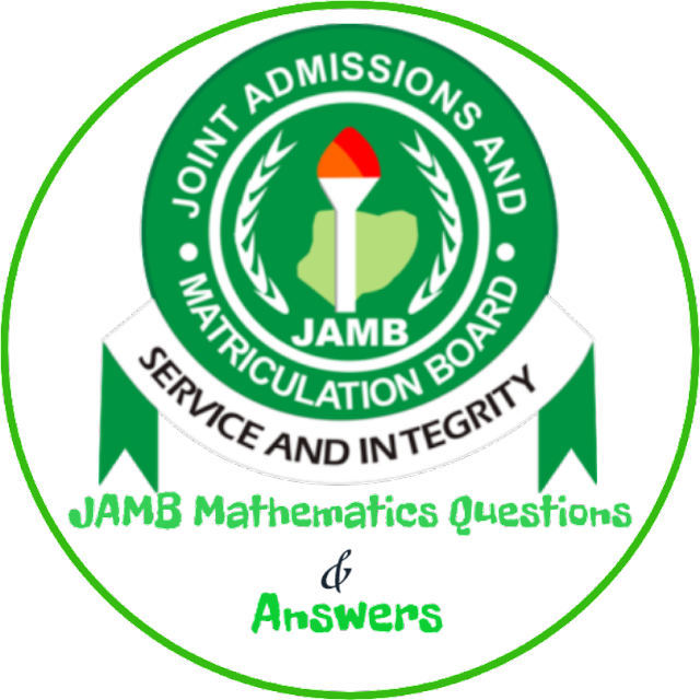 JAMB 2020/2021 maths questions