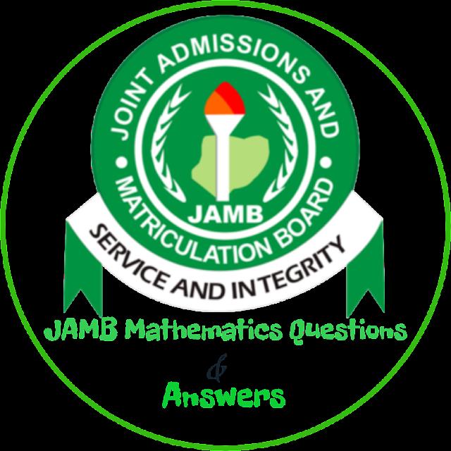 JAMB 2020/2021 maths questions