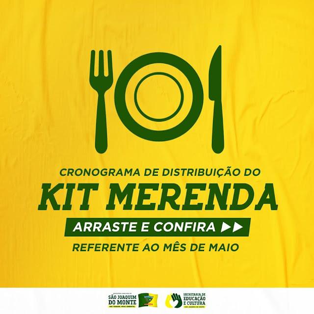 LOCAL: Prefeitura de São Joaquim do Monte anuncia entrega dos Kits Merenda para população