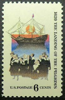 1970 6c Pilgrim's Landing Plymouth Massachusetts Mayflower