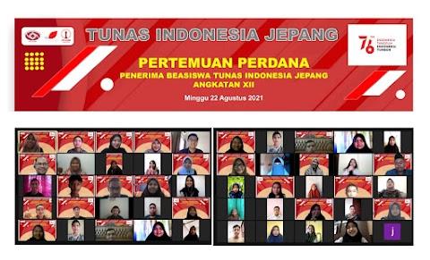 Tunas Indonesia Jepang Gelar Pertemuan Perdana Penerima Beasiswa TIJ Angkatan XII