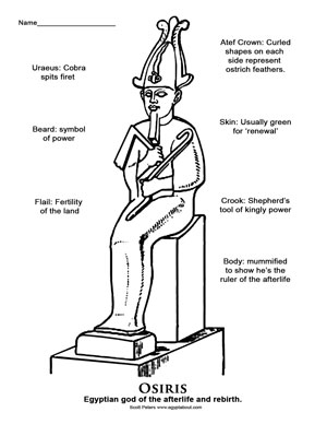 Grade 5 ancient Egypt worksheet, Osiris coloring page, Osiris activity, Egyptian God, Ancient Egypt for Kids, god of the afterlife,  god of rebirth, husband of Isis, Egypt's first mummy, who was the first mummy