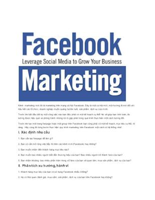 Facebook marketing một công cụ marketing tuyệt vời nhất