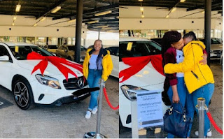 23-Year-Old Law Student Gets A Mercedes Benz From Her Mother As Birthday Gift [Photos]