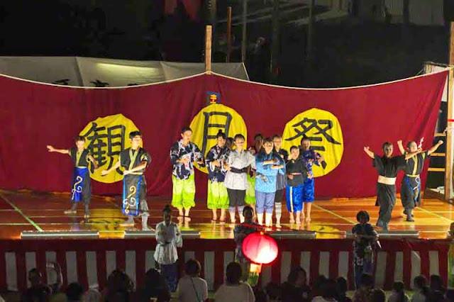 dancers, festival, stage, Okinawa