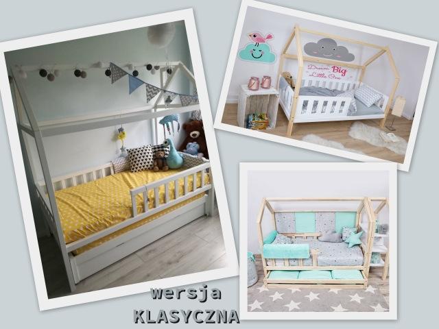 trzy łóżka domki w wersji klasycznej z oferty sklepu ola4kids.pl