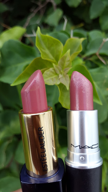 Estee Lauder 'Irresistible' vs M.A.C 'Creme In Your Coffee' swatch www.modenmakeup.com