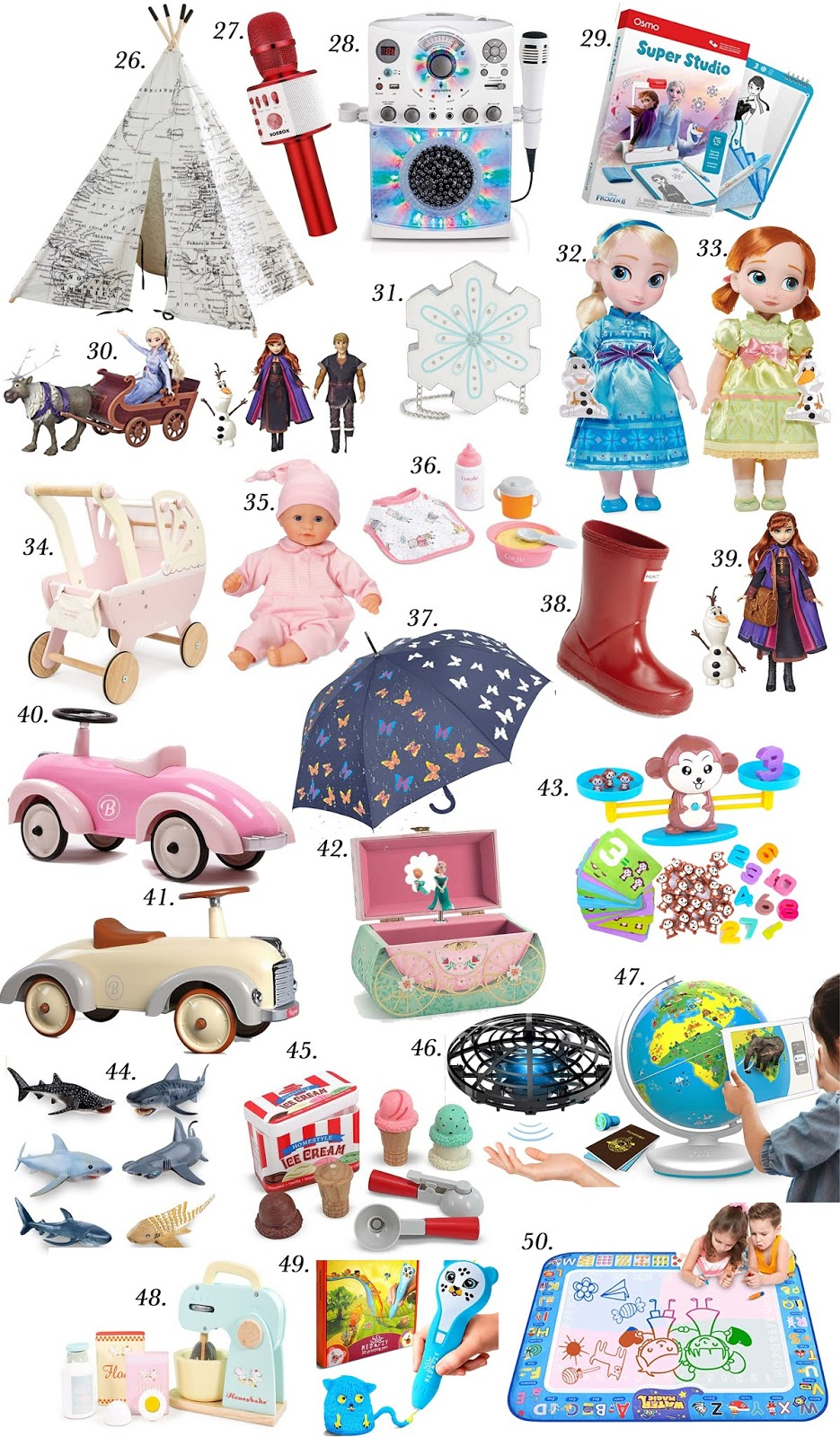 50 Gift Ideas for Kids of all ages - Something Delightful Blog