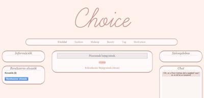 Design atalakitas - Choice