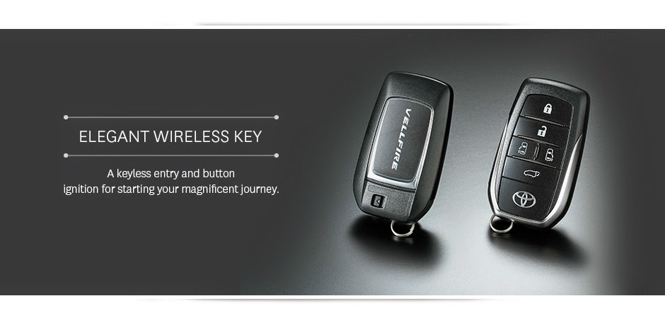 vellfire wireless key