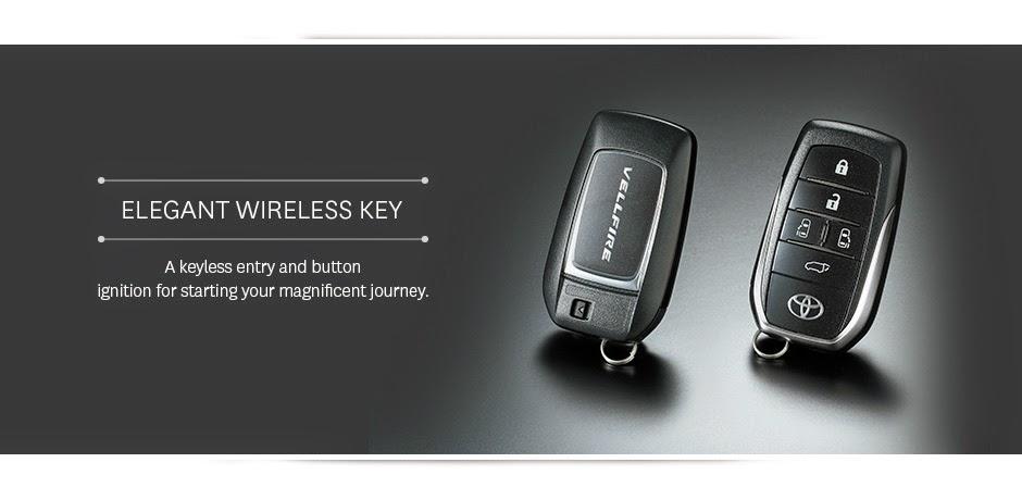 vellfire wireless key