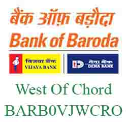 Vijaya Baroda Bank West Of Chord Road Branch New IFSC, MICR