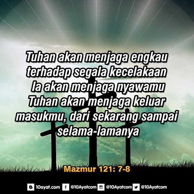 Mazmur 121: 7-8