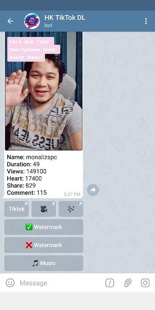 cara downlaod video tiktok tanpa watermark guna telegram