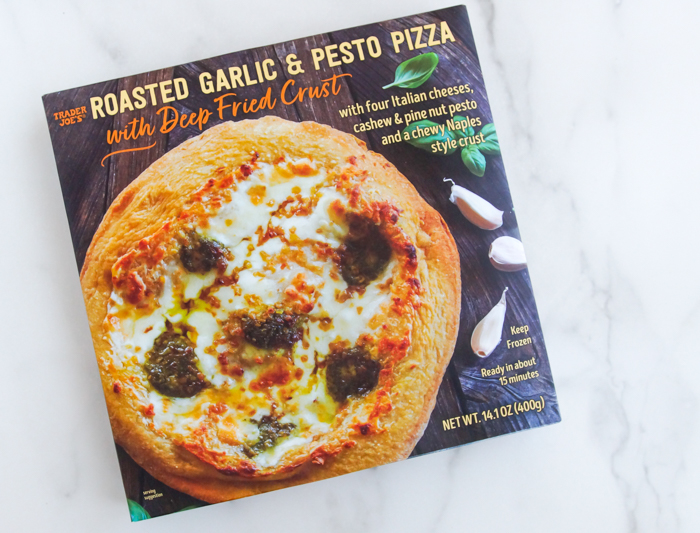 Trader Joe's Roasted Garlic and Pesto Pizza with Deep-Fried Crust review