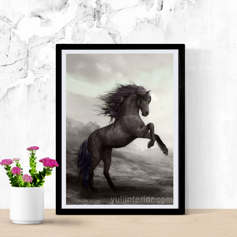 Stallion Horse Framed Print Wall Frame, Art in Port Harcourt Nigeria