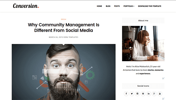 Conversion Responsive Blogger Template Free Download