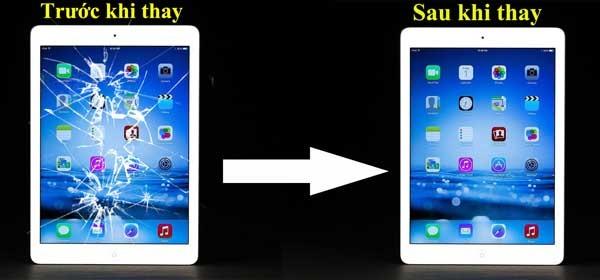 iPad mini 2 sau khi thay thế mặt kính mới