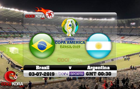مشاهدة مباراة البرازيل والأرجنتين اليوم 3-7-2019 علي بي أن ماكس كوبا أمريكا 2019