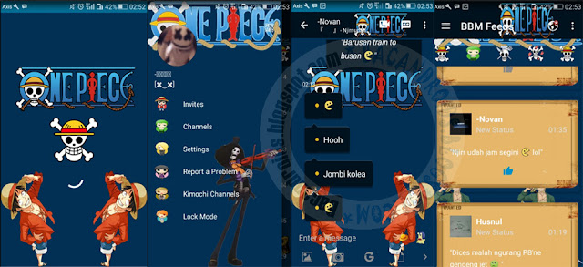 BBM Mod Kimpochi One Piece New World Theme Versi 3.0.1.25 Apk Terbaru For Android Clone And Unclone