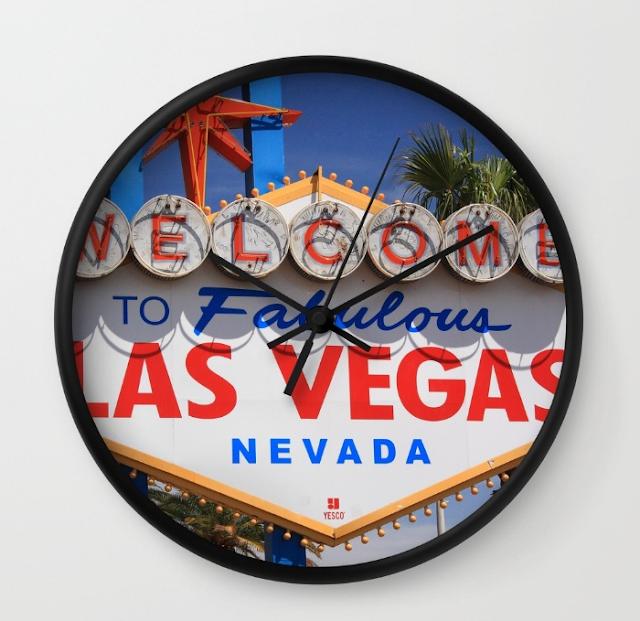 Souvenirs de relógios decorados em Las Vegas