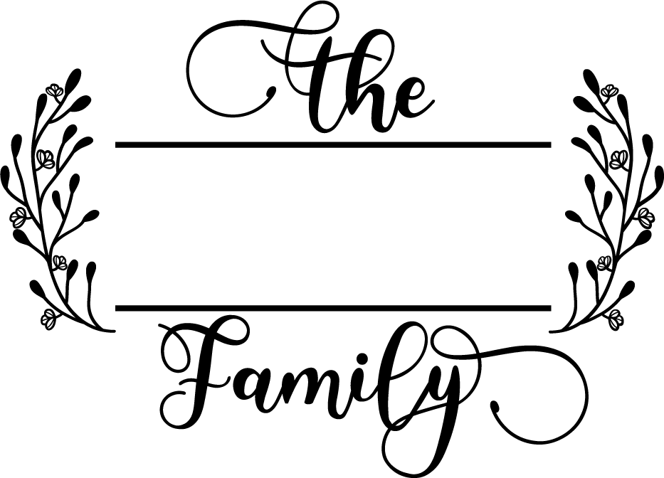 The Family Monogram SVG Cut File