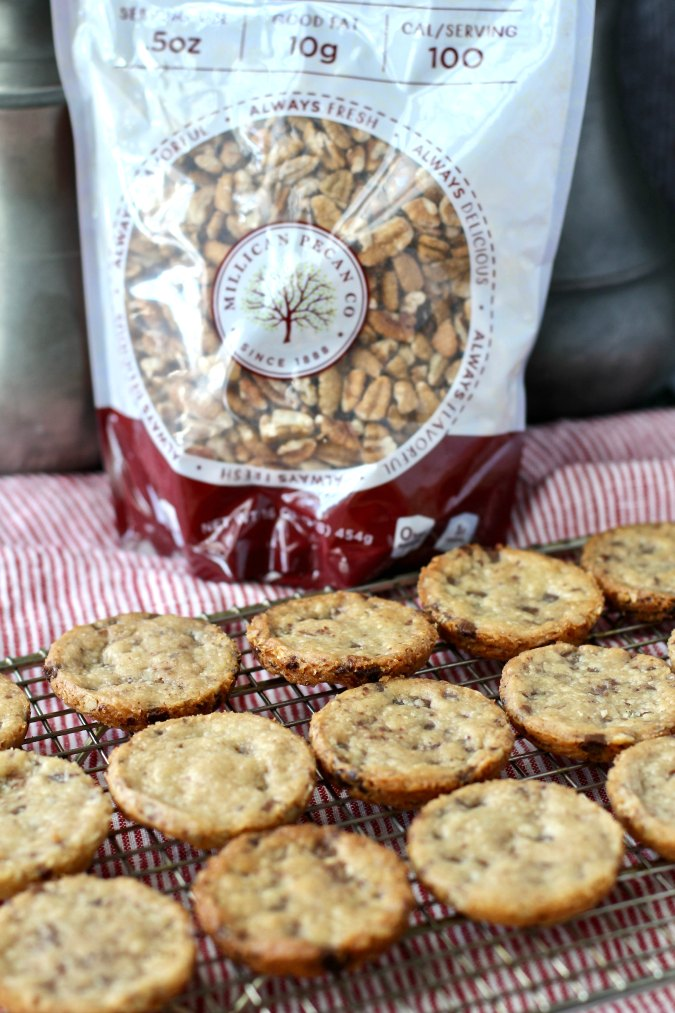 Pecan Butterscotch Shortbread Cookies with Millican pecans