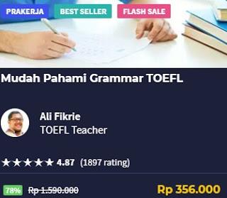 Belajar grammar toefl di skill academy