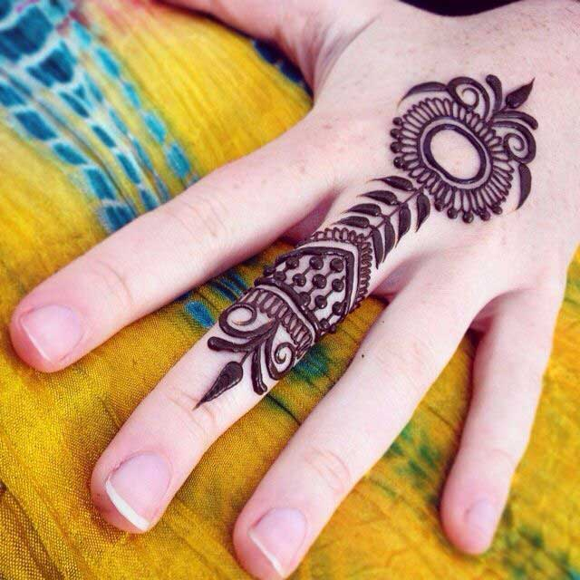 Floral Ring Mehndi Designs For Fingers