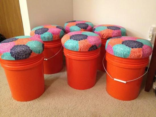 4-seats 15 DIY Genius Project Ideas For Repurposing Old Gallon Buckets Interior