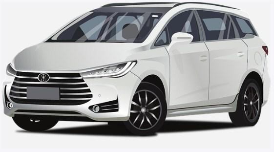 white-mpv-car