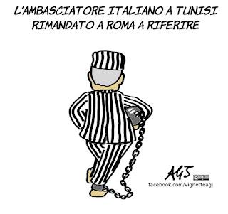 salvini, tunisia, galeotti, dichiarazioni dei ministri, vignetta, satira