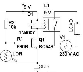 Super Circuit Diagram: Dark Sensitive Power Switch Circuit