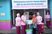 TK Kemala Bhayangkari 23 Kota Bandar Lampung Terima Bantuan Sarana dan Prasarana Pendidikan dari Ketua Pengurus YKB