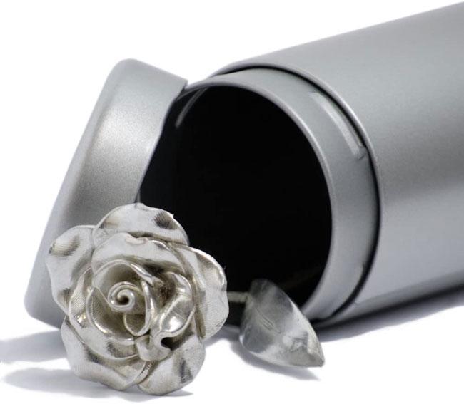 tin anniversary 10 year metal rose wedding gift