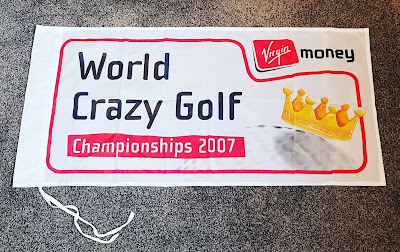 Flag from the 2007 Virgin Money World Crazy Golf Championships