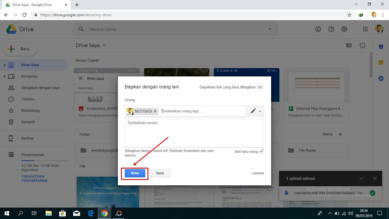 Cara Berbagi File Melalui Google Drive Lewat Pc Komputer Dan Hp Berbagi Ilmu