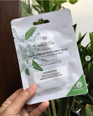 The Body Shop Drops Of Youth Concentrate sheet mask ( isi 1 sheet mask)