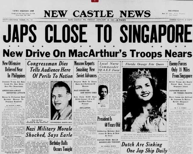 New Castle News, 30 January 1942 worldwartwo.filminspector.com