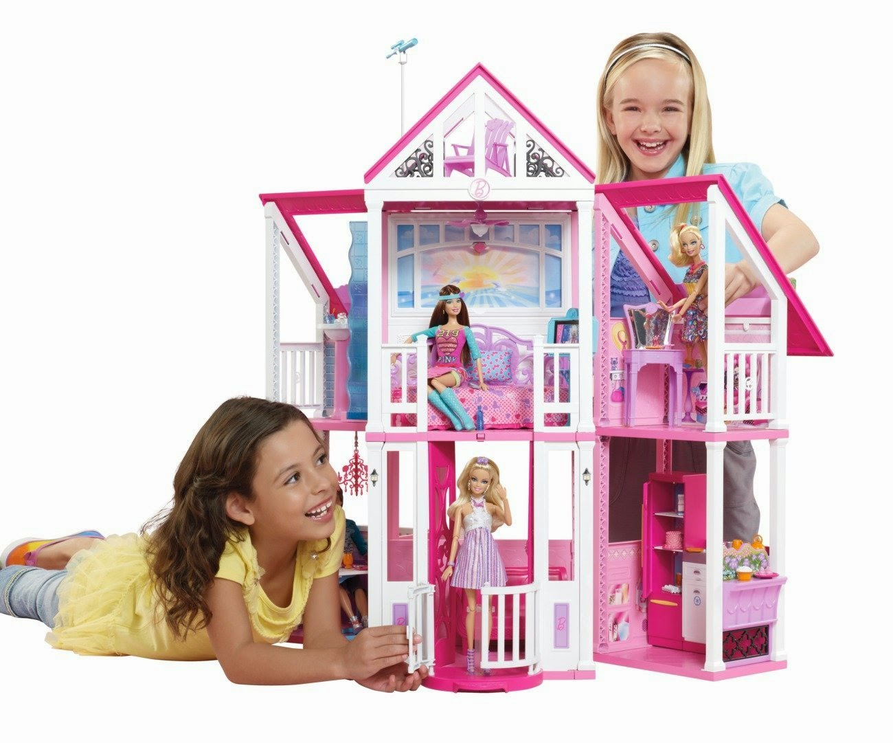 Giochi barbie la casa di malibu di barbie in offerta for Accessori per la casa di barbie