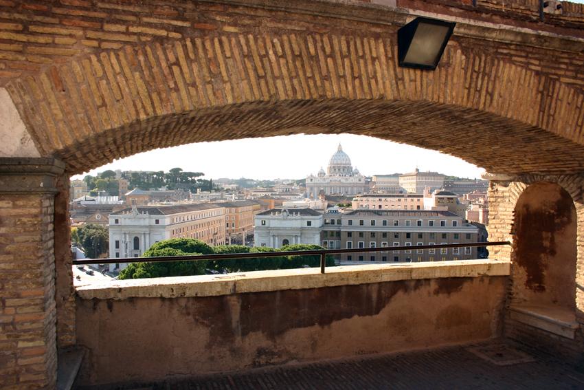Widok z Castel Sant'Angelo