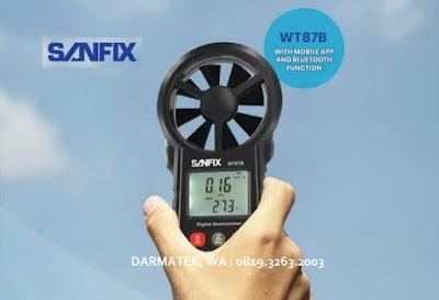 Jual Sanfix WT 87B Anemometer LED (Jenis Bluetooth)