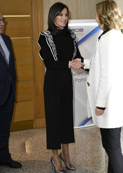 Queen Letizia attended the meeting of Board of Trustees of Help Foundation Against Drug Addiction