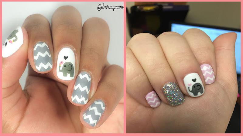 Elephant Nail Art #elephant #elephantnail #elephantnailart #nailart ...