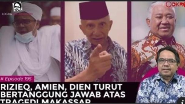 Ade Armando Minta Amien Rais, HRS dan Din Tanggung Jawab Soal Tragedi Bom Makassar, Kenapa?