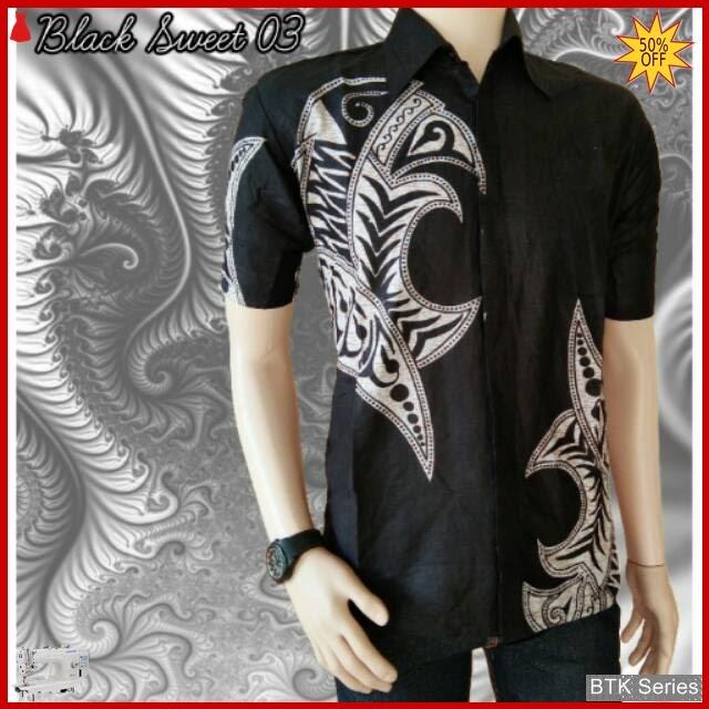 BTK149 Baju Hem Black Sweet 03 Modis Murah BMGShop