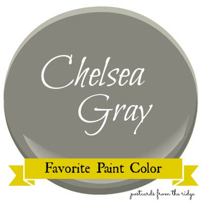 Favorite paint color benjamin moore chelsea gray for Benjamin moore chelsea gray paint