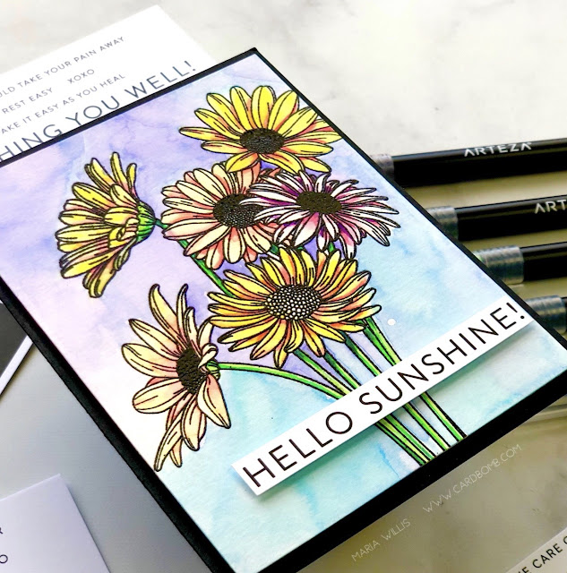 Cardbomb, Maria Willis, Simon Says Stamp, #cards, #stamps, #ink, #paper, #papercraft, #craft, #create, #handmade, #handmadecards, #arteza, #flowers, #art, #color, #watercolor,